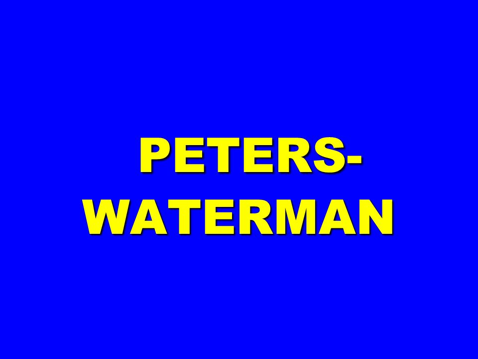 PETERS-WATERMAN