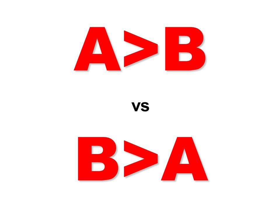 A>B vs B>A