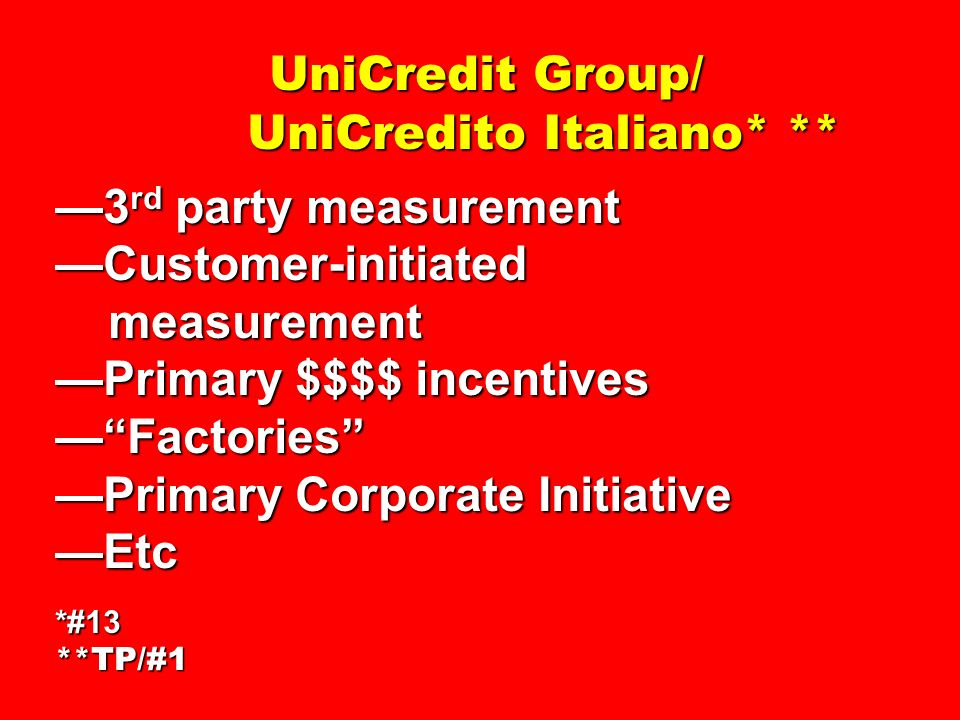 UniCredit Group/ UniCredito Italiano