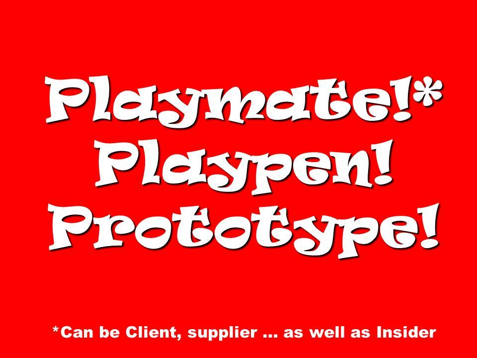 Playmate. Playpen. Prototype