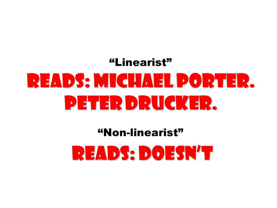 Linearist reads: michael porter. Peter drucker
