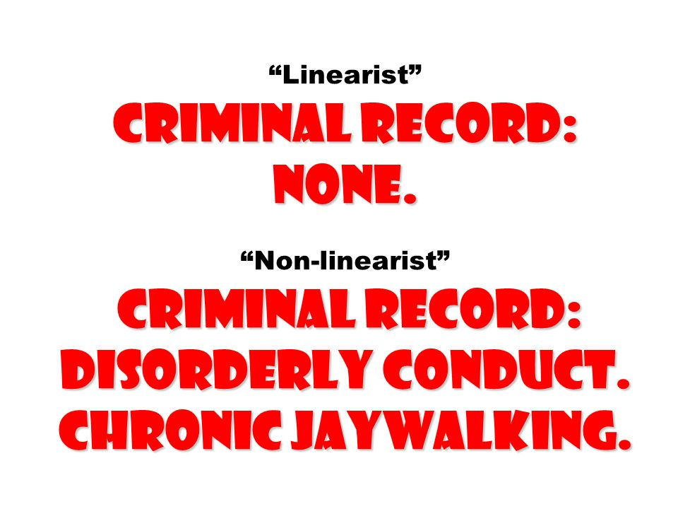 Linearist criminal record: none