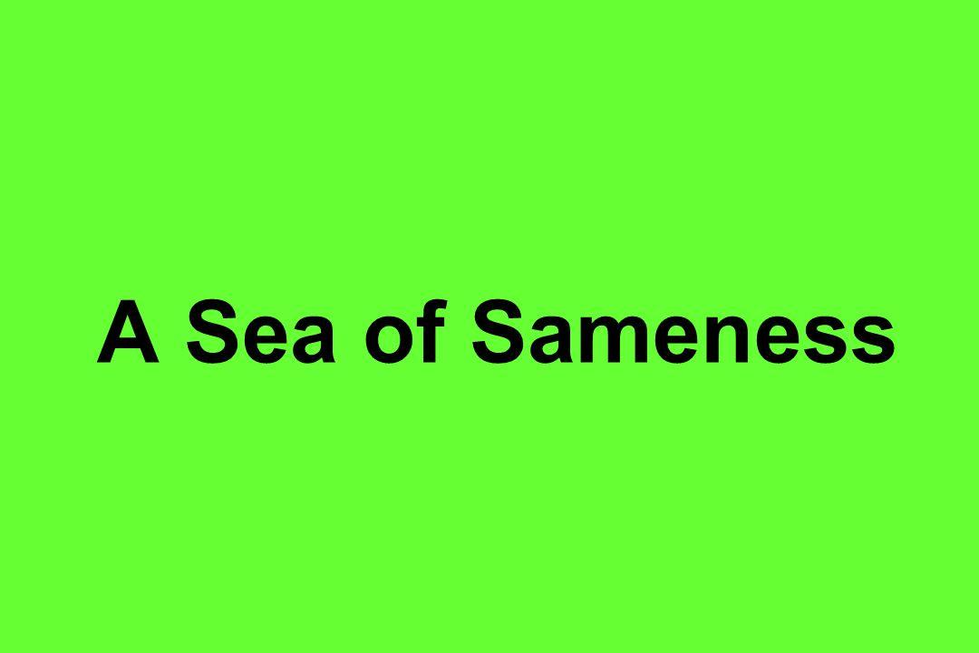 A Sea of Sameness