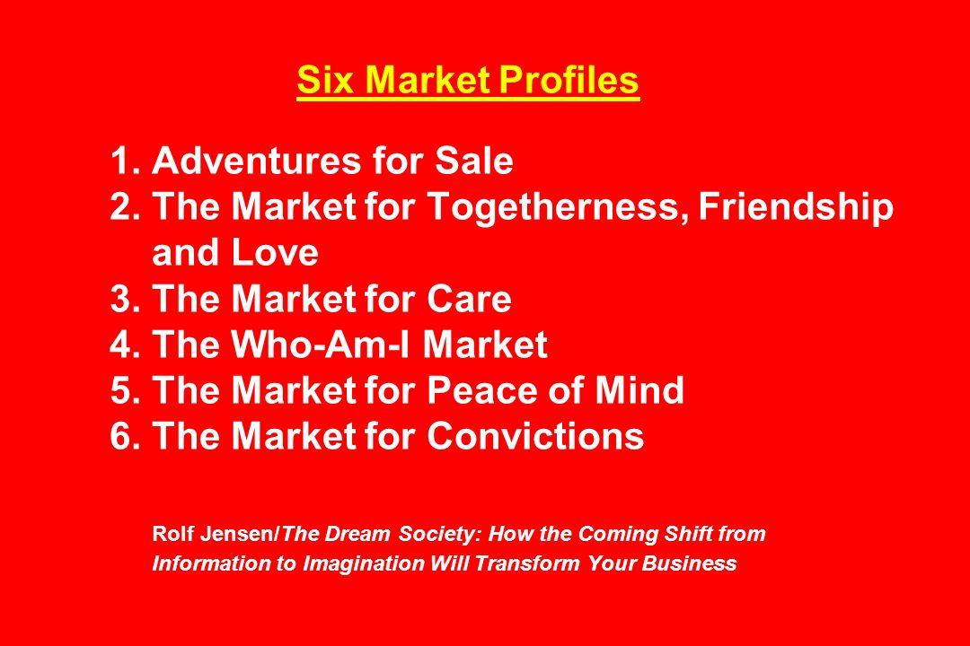 Six Market Profiles 1. Adventures for Sale 2