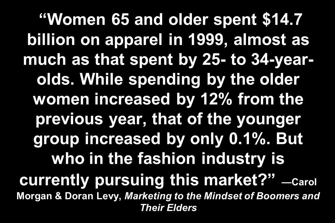 Women 65 and older spent $14