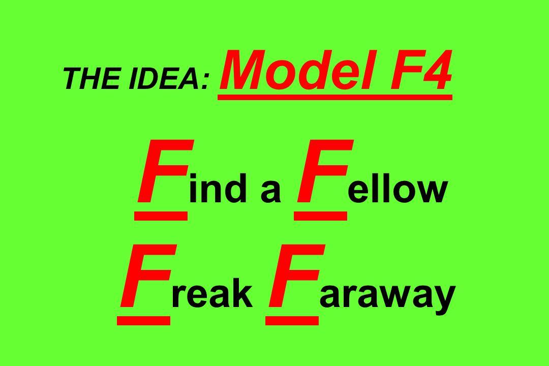 THE IDEA: Model F4 Find a Fellow Freak Faraway