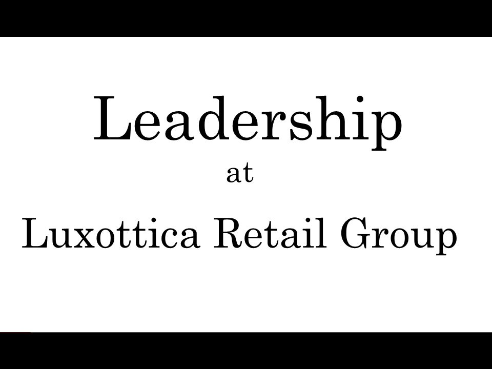 Luxottica Retail Group