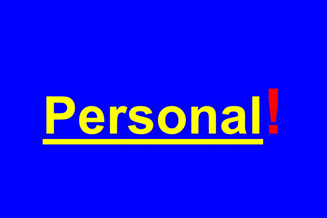 Personal!