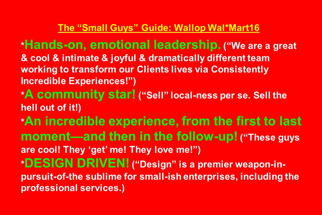 The Small Guys Guide: Wallop Wal*Mart16