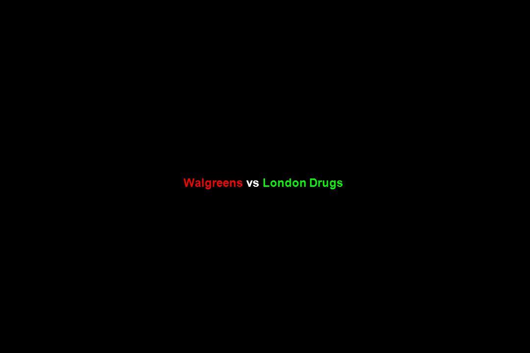 Walgreens vs London Drugs