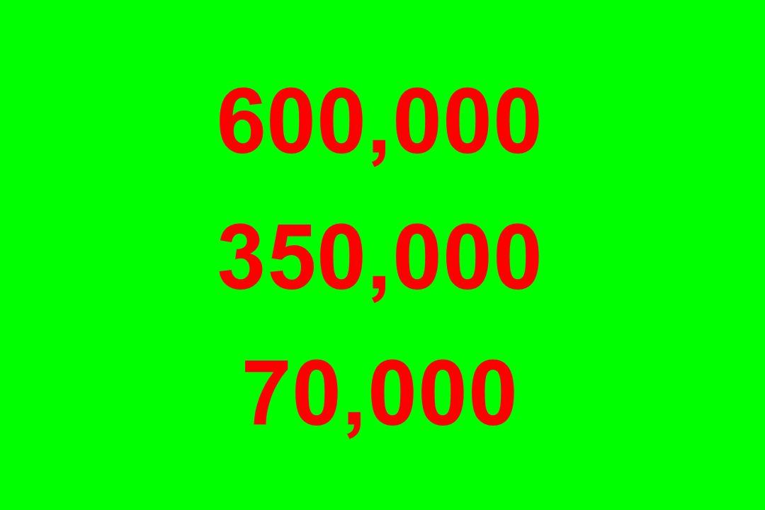600,000 350,000 70,000