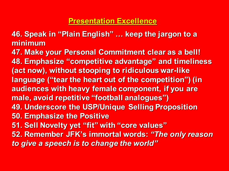 Presentation Excellence 46
