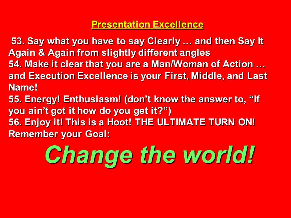 Presentation Excellence 53