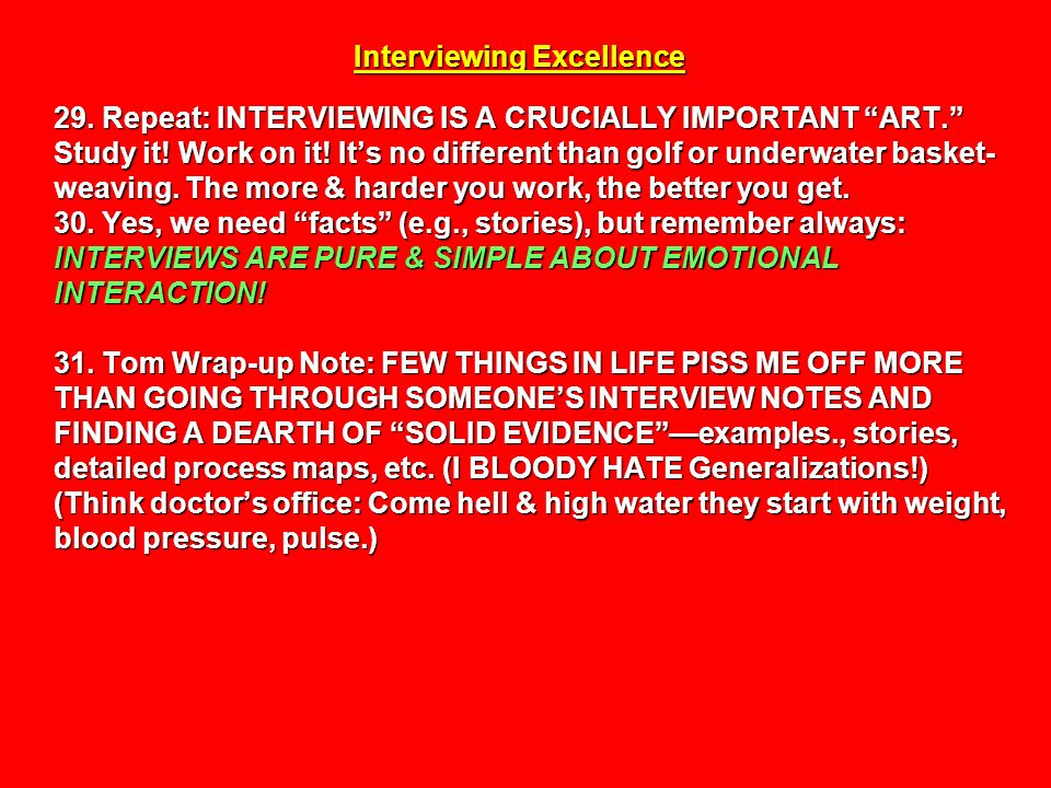 Interviewing Excellence 29