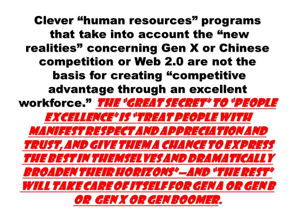 Clever human resources programs