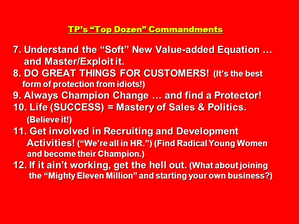 TP's Top Dozen Commandments 7