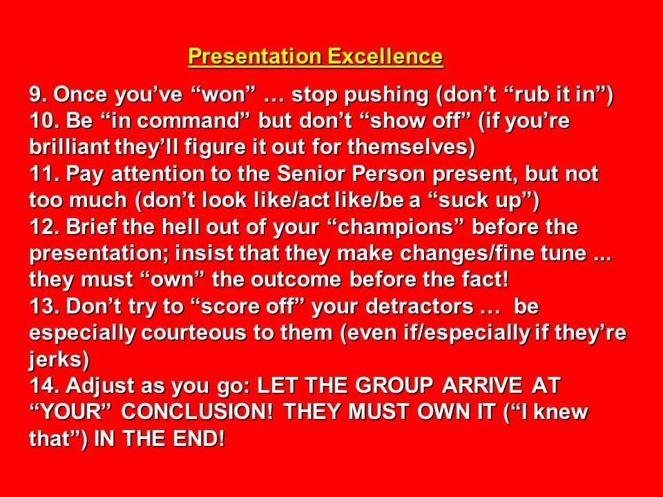 Presentation Excellence 9