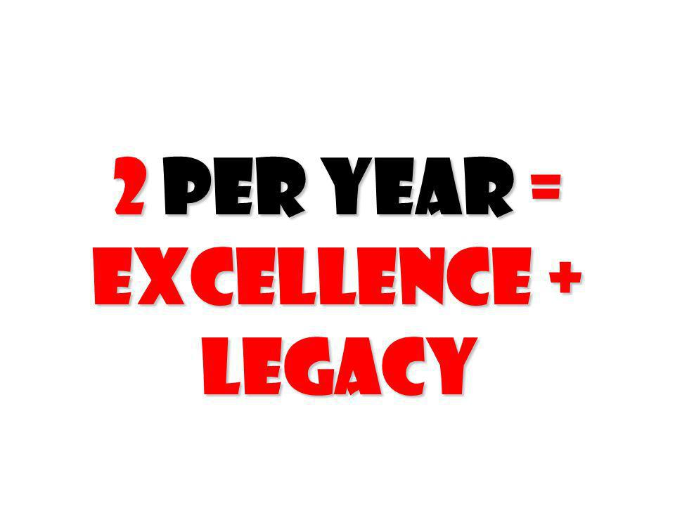 2 per Year = Excellence + Legacy