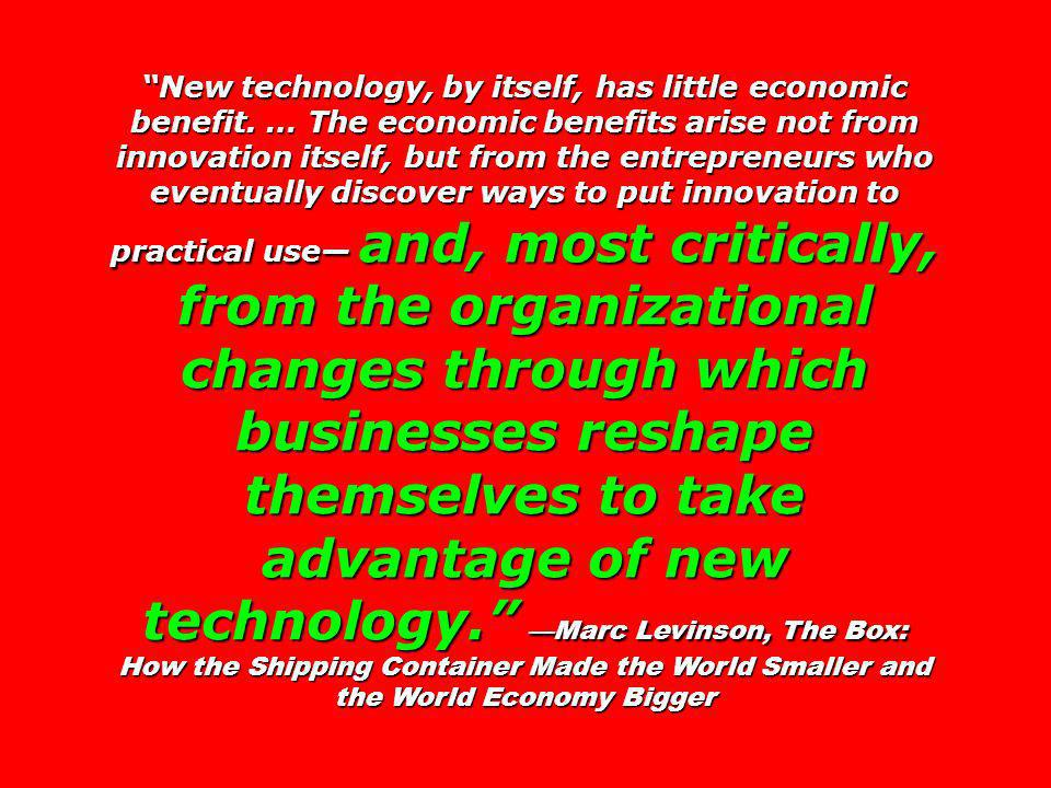 New technology, by itself, has little economic benefit