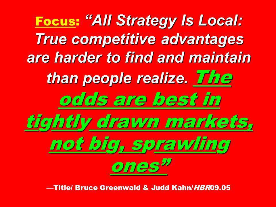 —Title/ Bruce Greenwald & Judd Kahn/HBR09.05