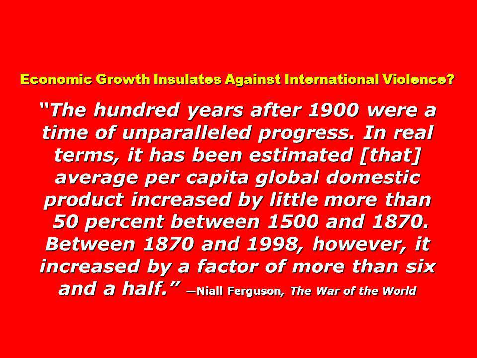 Economic Growth Insulates Against International Violence