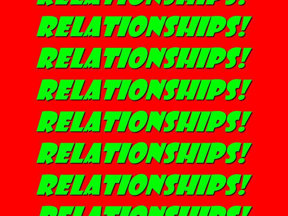 Relationships. Relationships. Relationships. Relationships
