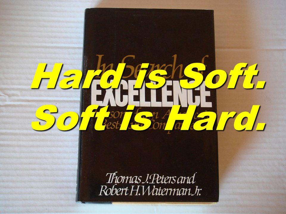 Hard is Soft. Soft is Hard.
