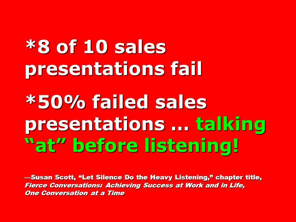 8 of 10 sales presentations fail