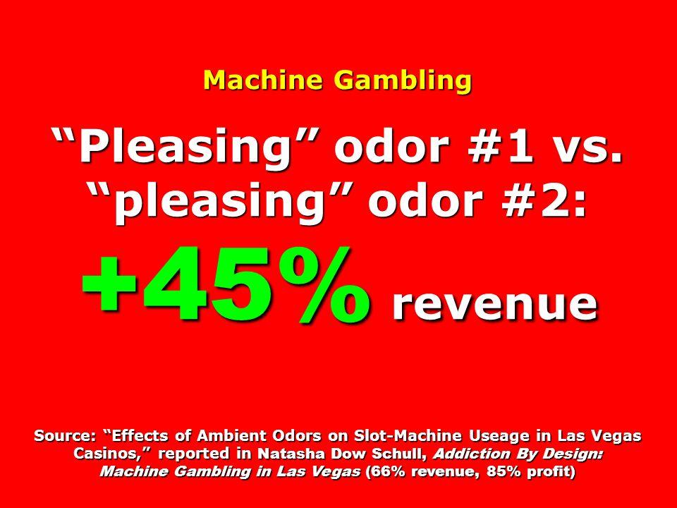 Pleasing odor #1 vs. pleasing odor #2: +45% revenue