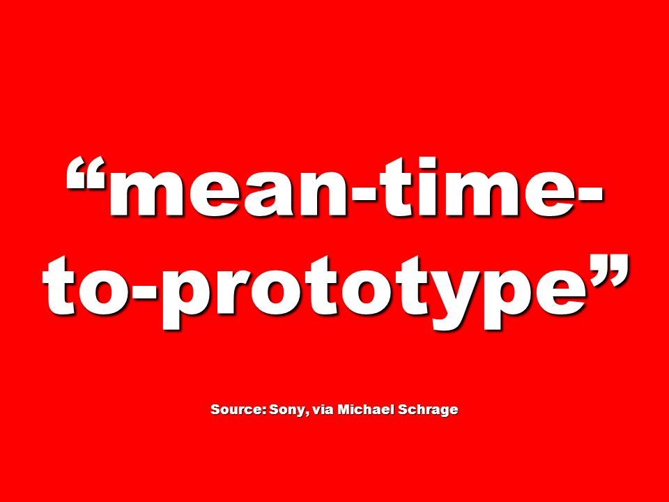 mean-time-to-prototype Source: Sony, via Michael Schrage