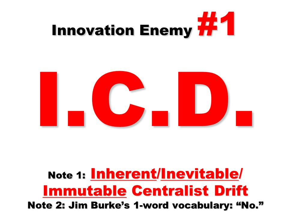 Innovation Enemy #1 I.C.D.