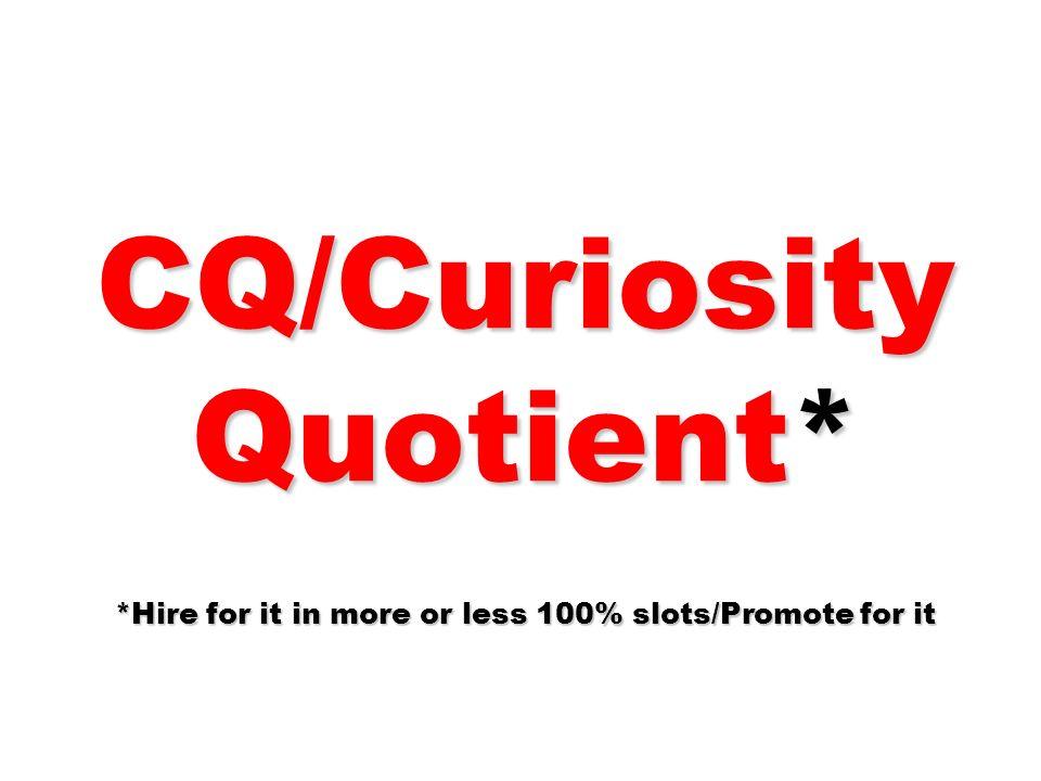 CQ/Curiosity Quotient