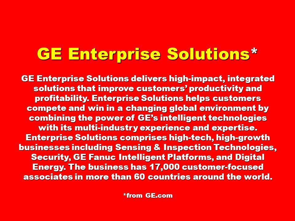 GE Enterprise Solutions*