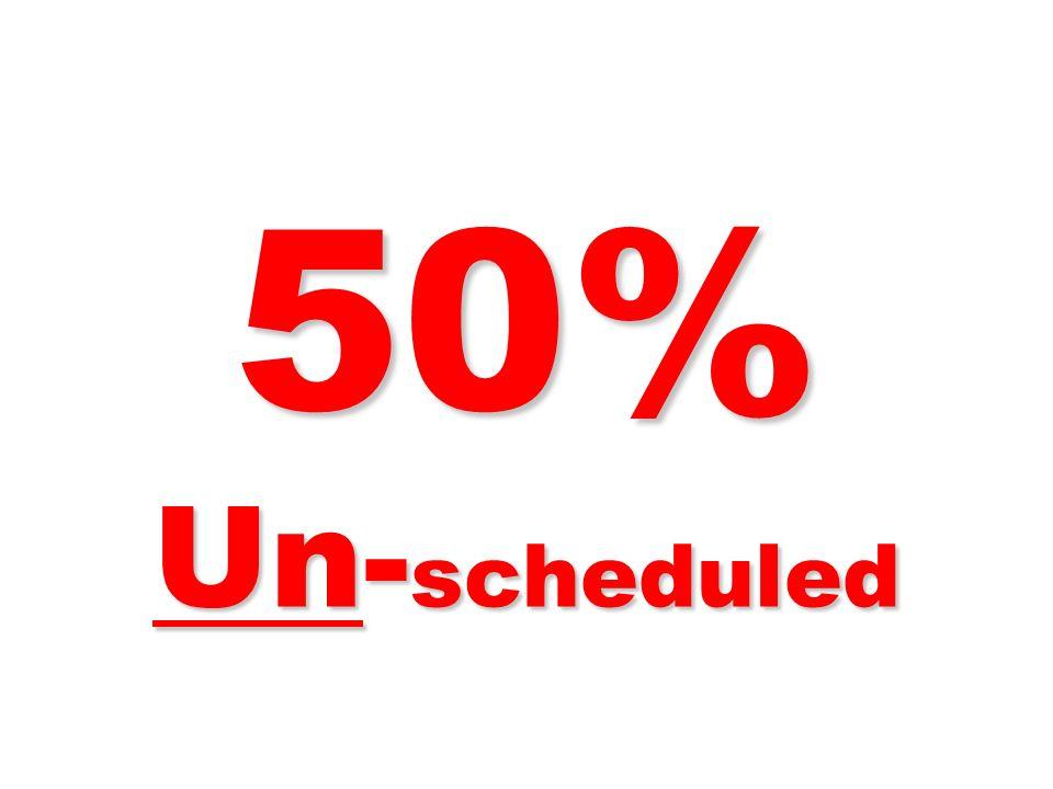 50% Un-scheduled 269