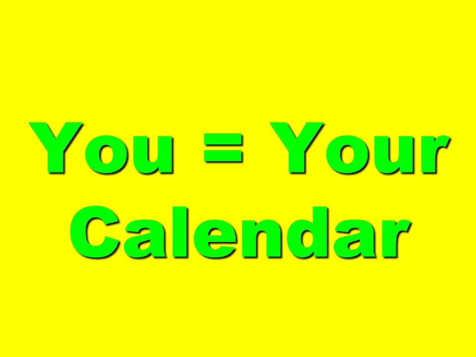 You = Your Calendar 280