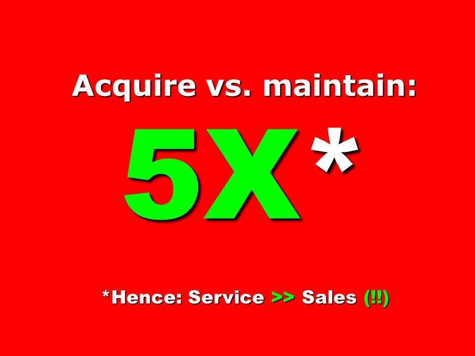*Hence: Service >> Sales (!!)
