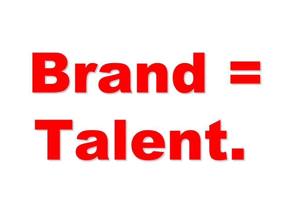 Brand = Talent. 65