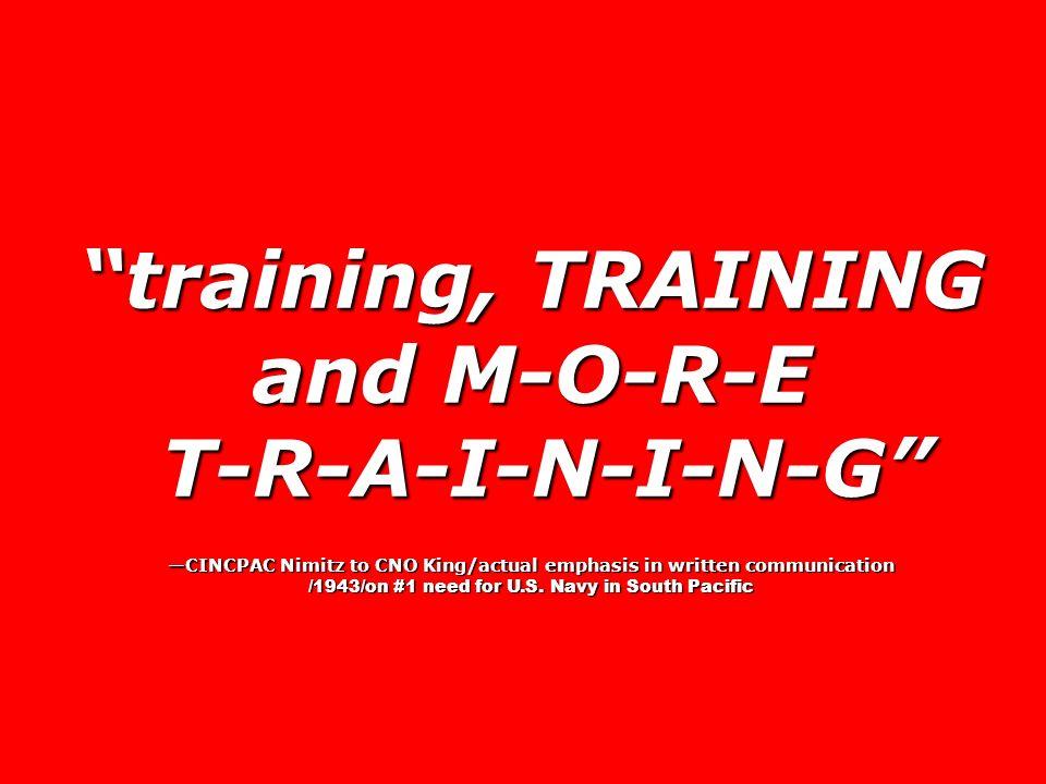 training, TRAINING and M-O-R-E T-R-A-I-N-I-N-G