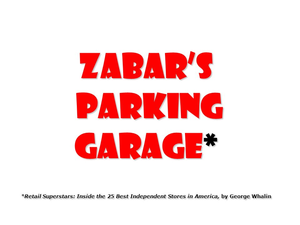 Zabar's Parking Garage