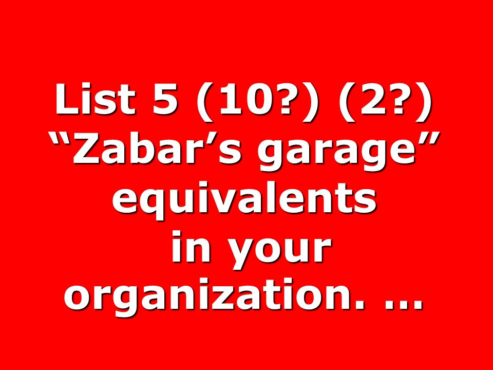 List 5 (10 ) (2 ) Zabar's garage equivalents