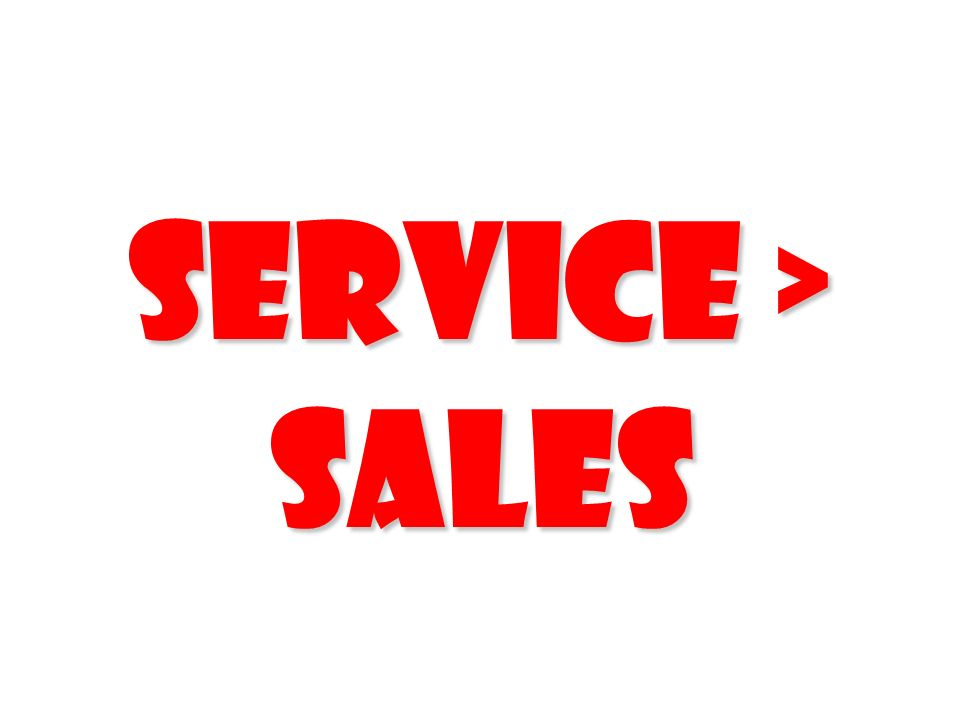 Service > Sales 234