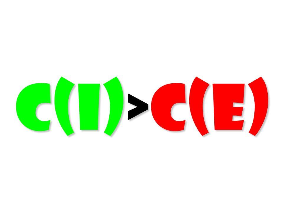 C(I)>C(E) 52