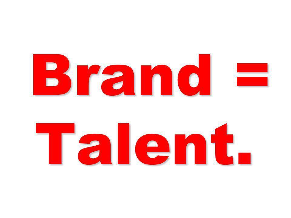 Brand = Talent. 107