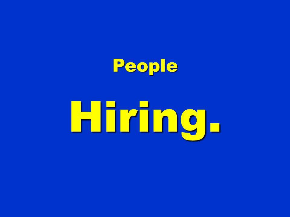 People Hiring. 111