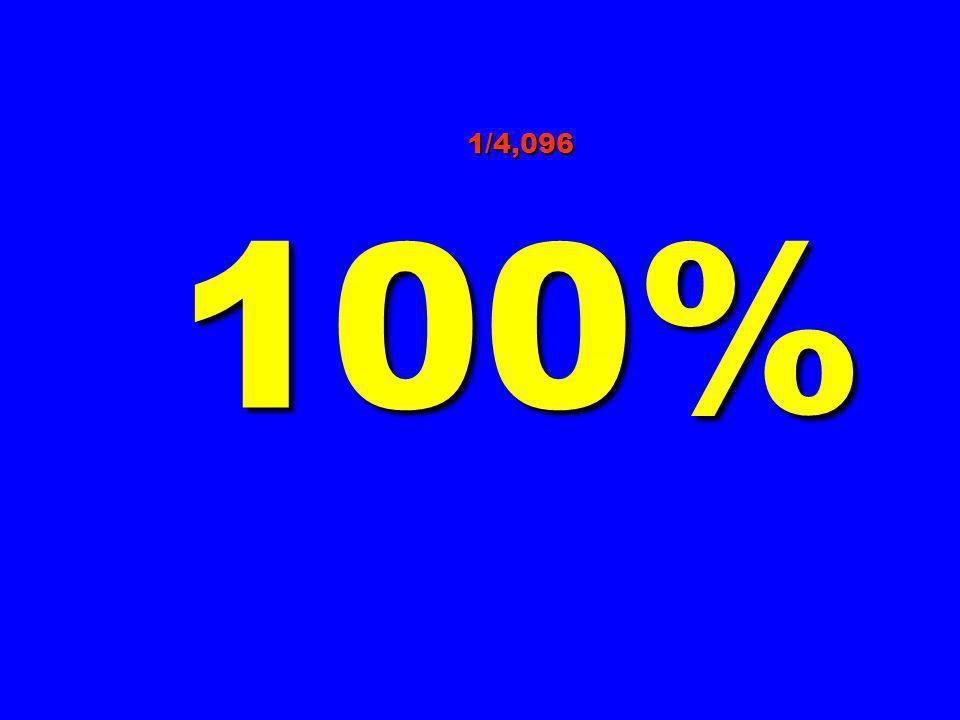 1/4,096 100%