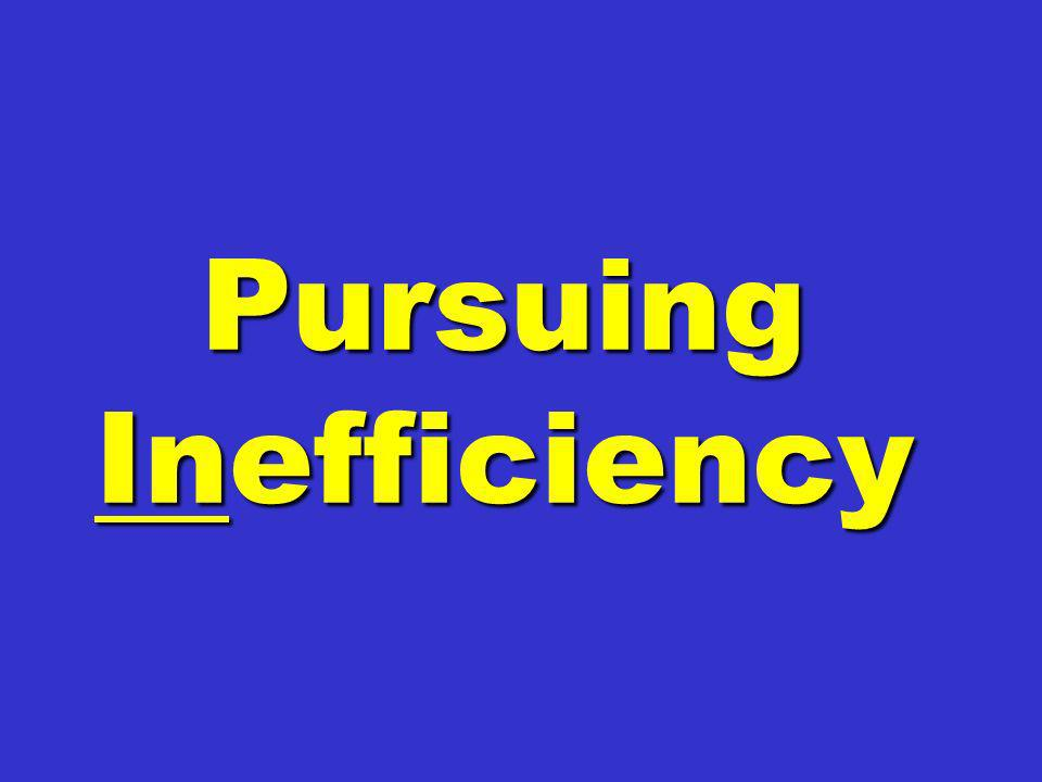 Pursuing Inefficiency