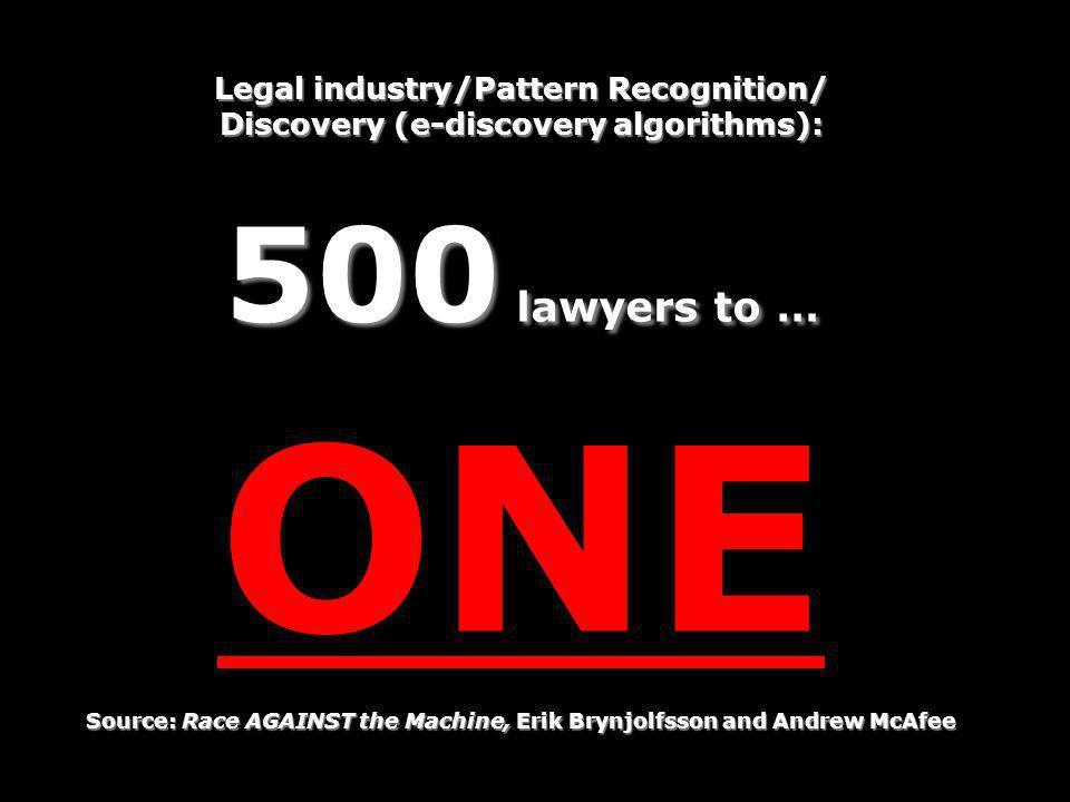 ONE 500 lawyers to … Legal industry/Pattern Recognition/