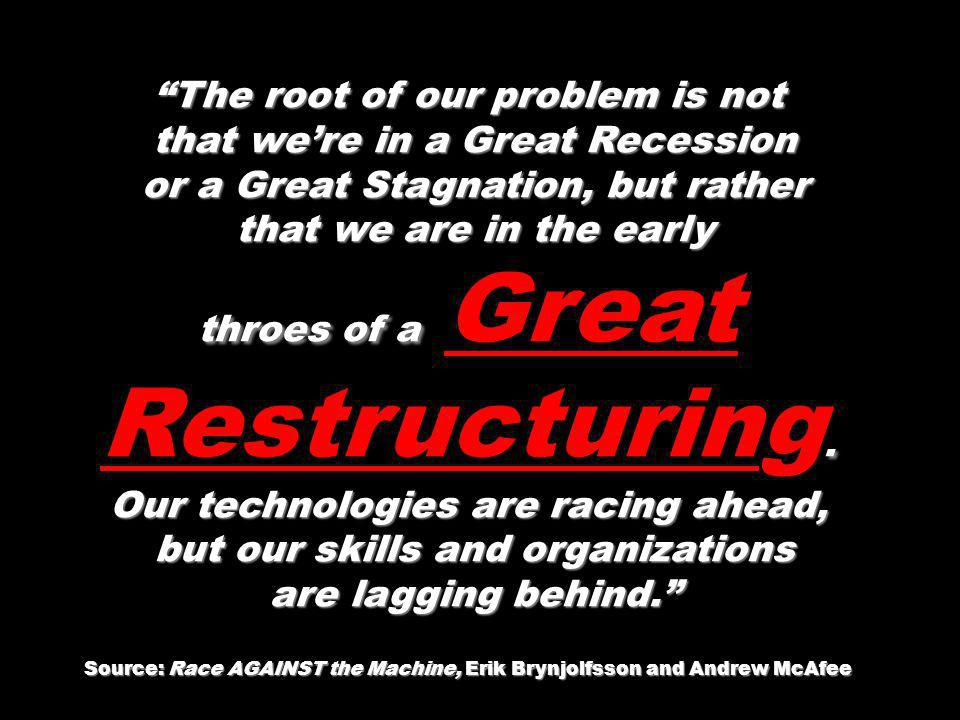 The root of our problem is not that we're in a Great Recession