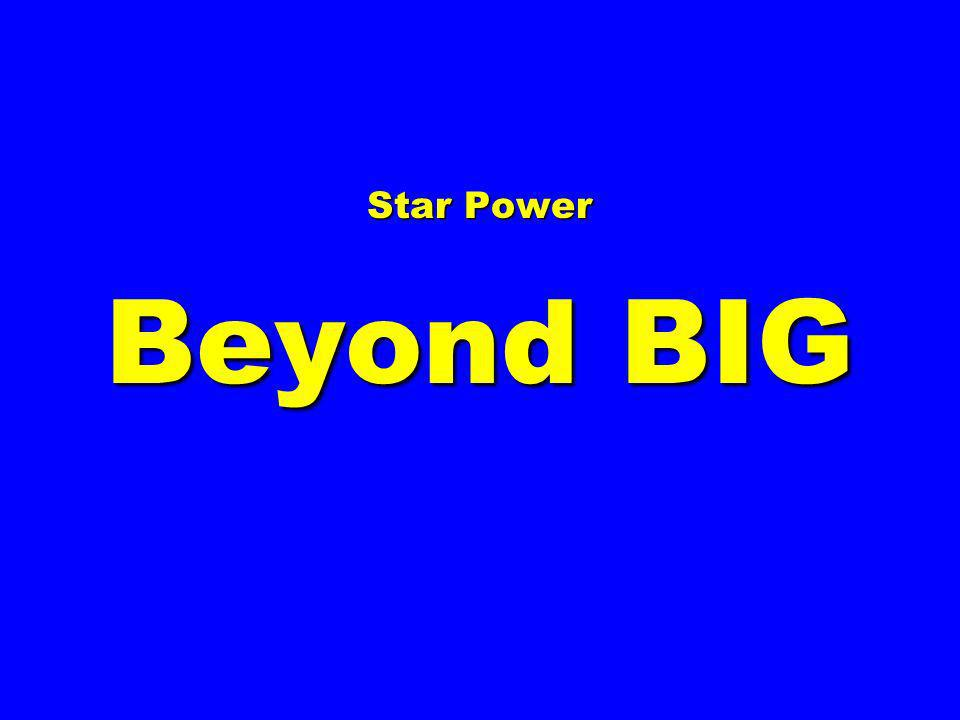 Star Power Beyond BIG