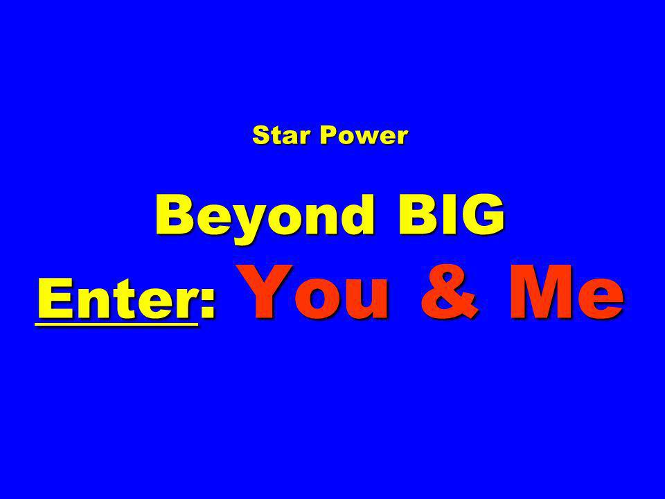 Star Power Beyond BIG Enter: You & Me